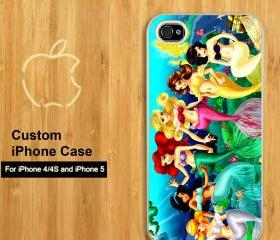 little mermaid and friend - Customized iPhone 4/4S & iphone 5